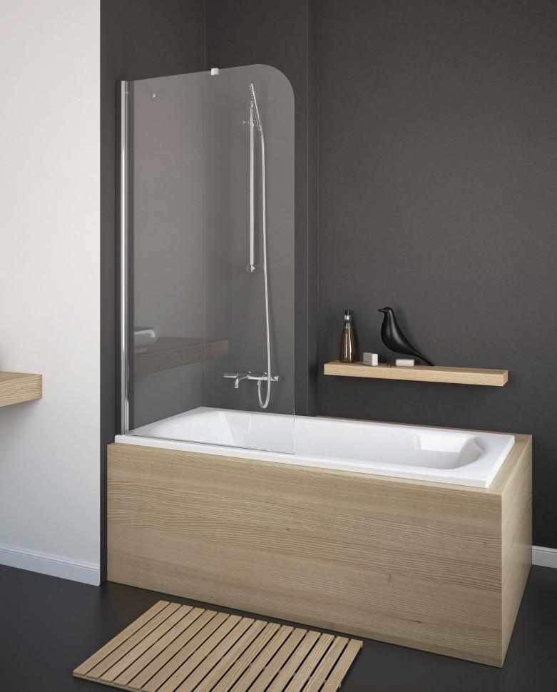 Шторка для ванны Radaway Torrenta PNJ 80 L прозрачное шторка для ванной radaway