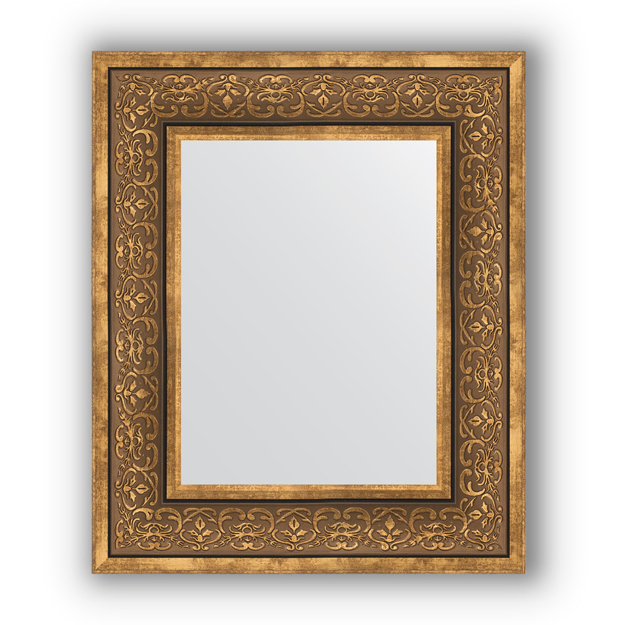 Зеркало 49х59 см вензель бронзовый Evoform Definite BY 3031 зеркало evoform definite 153х63 вензель бронзовый