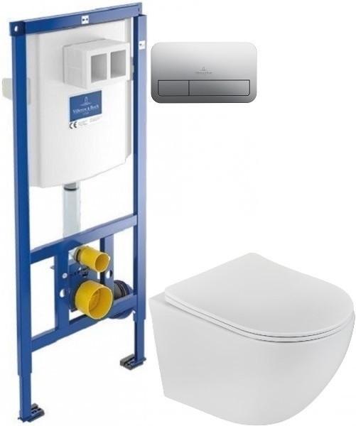Комплект подвесной унитаз Teka Manacor 11.732.00.02 + система инсталляции Villeroy & Boch 92246100 + 92249061 фото