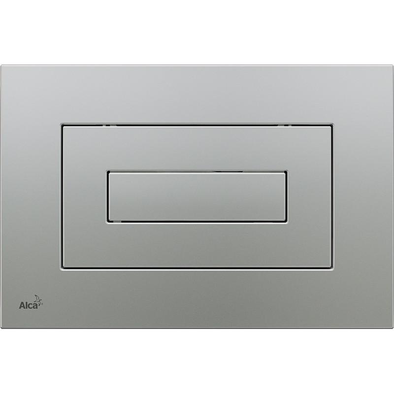 Смывная клавиша матовый хром для двойного смыва AlcaPlast M472