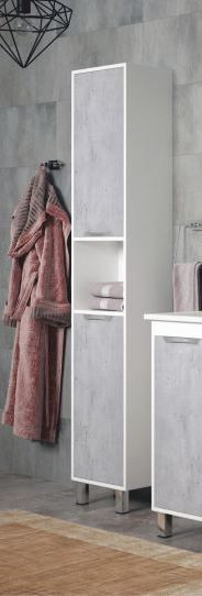 Пенал напольный белый глянец/бетон Corozo Чикаго SD-00000307 шпажка для оливок 16 см олива05 tunisie porcelaine