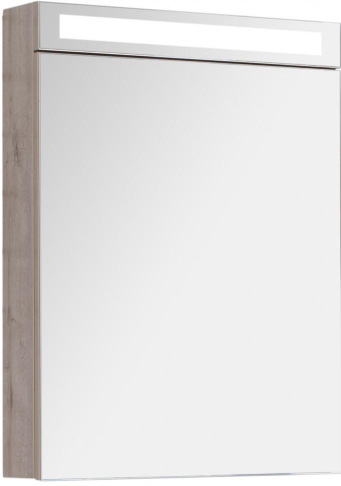 Зеркальный шкаф 60х80 см дуб кантри Dreja.rus Max 77.9006D фото