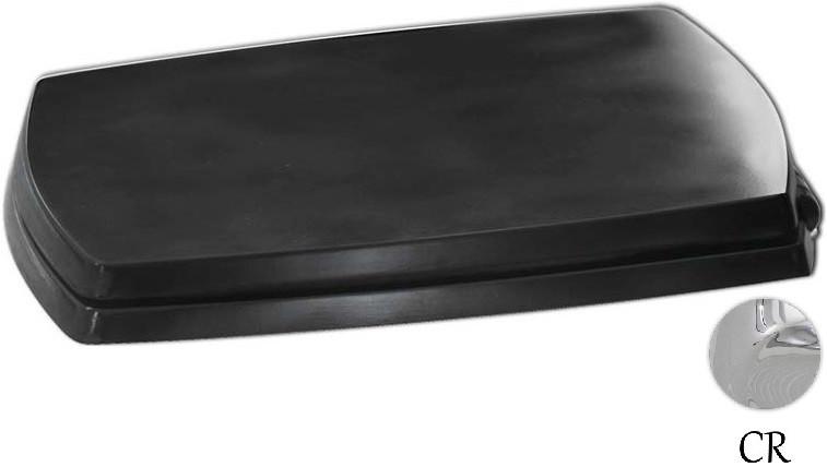 Сиденье для унитаза с микролифтом черный/хром Artceram Jazz JZA0060371NERO/CR