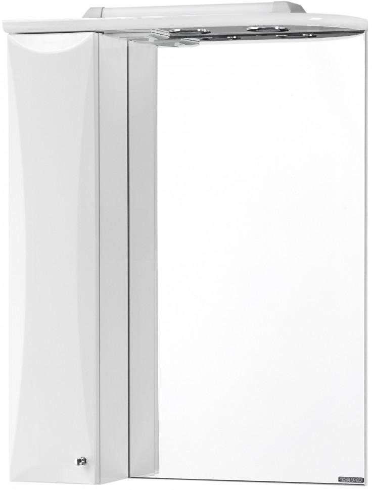 Зеркальный шкаф 58,6х79,8 см белый глянец L Акватон Джимми 1A034002DJ01L зеркальный шкаф bellezza миа 85 с подсветкой l белый