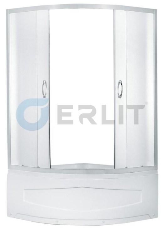 купить Душевой уголок с поддоном 80х80х195 см Erlit Comfort ER0508T-C3 матовое стекло дешево