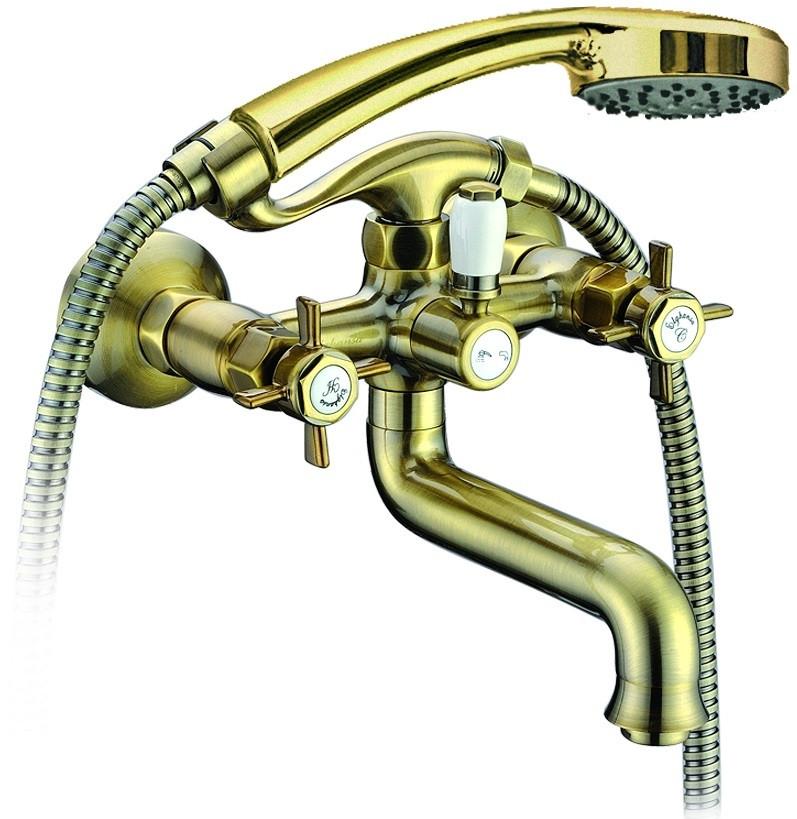 Смеситель для ванны Elghansa Praktic Bronze 2312660-Bronze смеситель elghansa 1622519 white белый