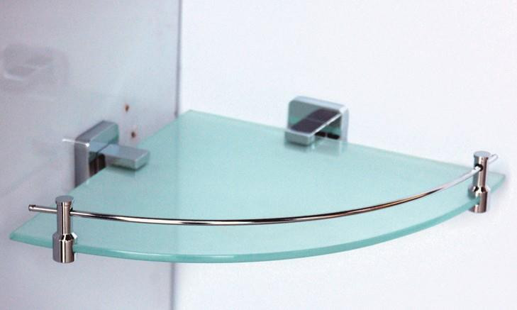 Полка стеклянная угловая с бортиком 25 см Rainbowl Cube 2743 полка стеклянная с бортиком 50 см rainbowl otel 2553 1