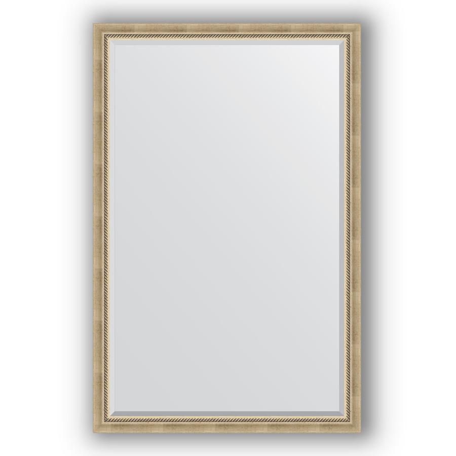 Зеркало 113х173 см состаренное серебро с плетением Evoform Exclusive BY 1212