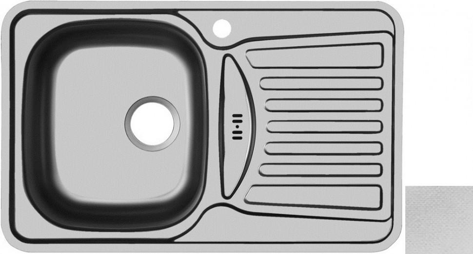 Кухонная мойка декоративная сталь Ukinox Комфорт COL780.480 -GW8K 2L кухонная мойка полированная сталь ukinox фаворит fap770 480 gw8k 2l