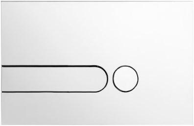 Кнопка смыва белая Jacob Delafon E4326-00 кнопка смыва ravak uni x01457 белая