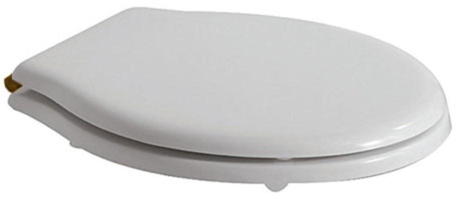 Сиденье для унитаза с микролифтом белый/бронза Globo Paestum PA139bi/br