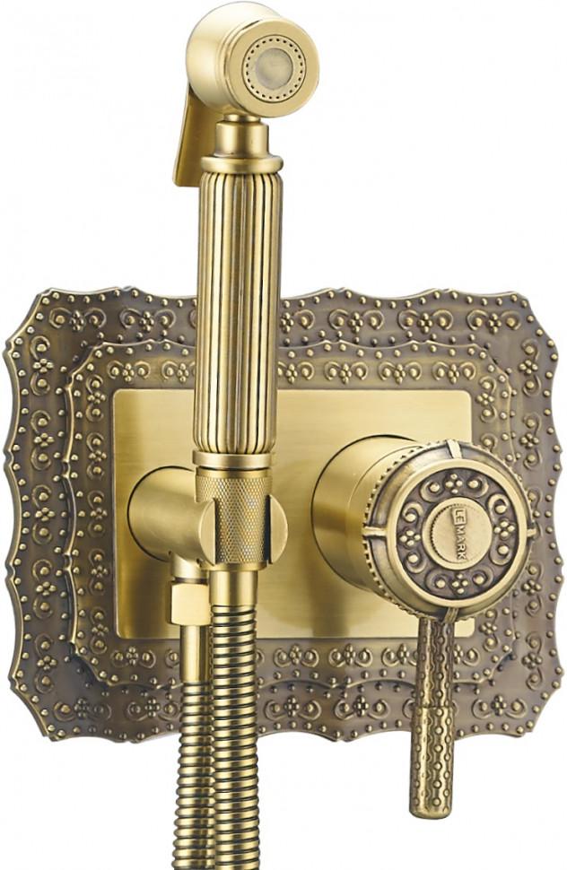 Встраиваемый смеситель с гигиеническим душем Lemark Jasmine LM6619B встраиваемый смеситель с гигиеническим душем lemark jasmine lm6619orb