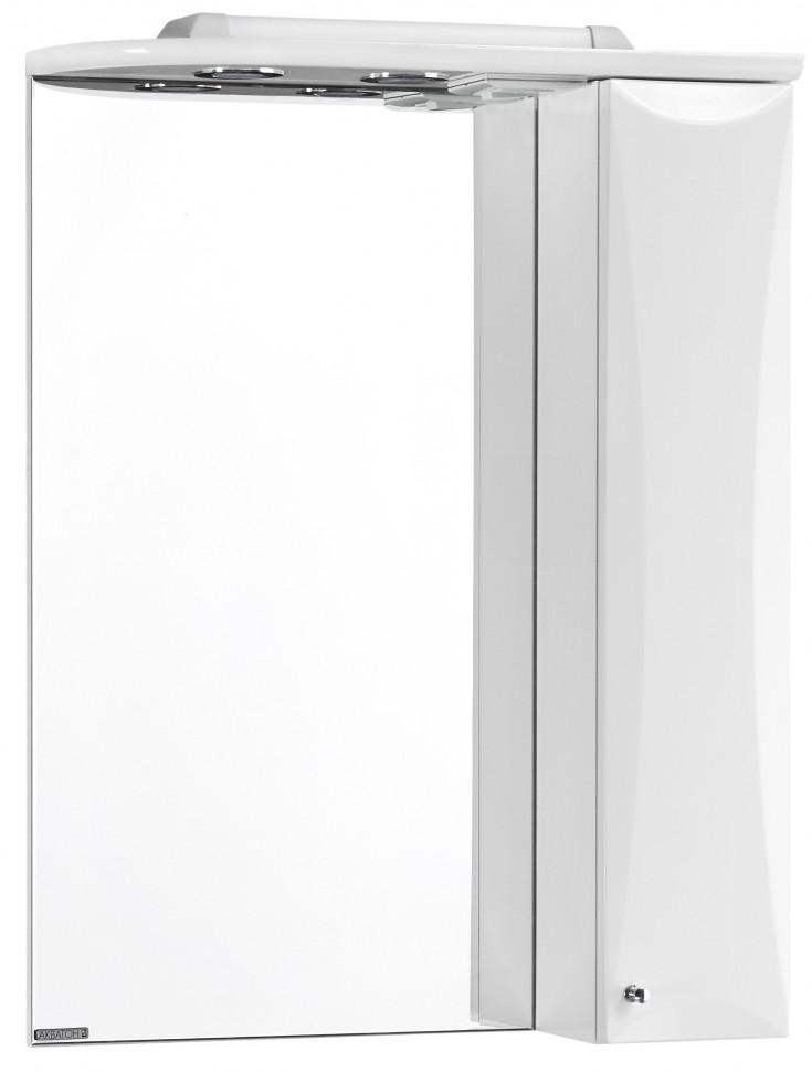 Зеркальный шкаф 58,6х79,8 см белый глянец R Акватон Джимми 1A034002DJ01R зеркальный шкаф 65х85 см белый глянец r акватон домус 1a166202ll01r