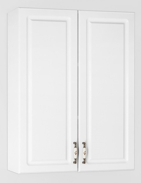 Фото - Шкаф двустворчатый подвесной белый глянец Style Line Олеандр-2 LC-00000305 зеркальный шкаф 75х83 см белый глянец style line олеандр 2 lc 00000051