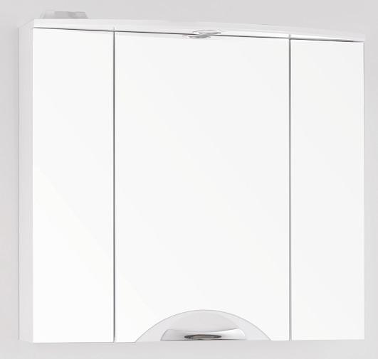 купить Зеркальный шкаф 76х71,8 см белый глянец Style Line Жасмин-2 LC-00000217 по цене 7063 рублей
