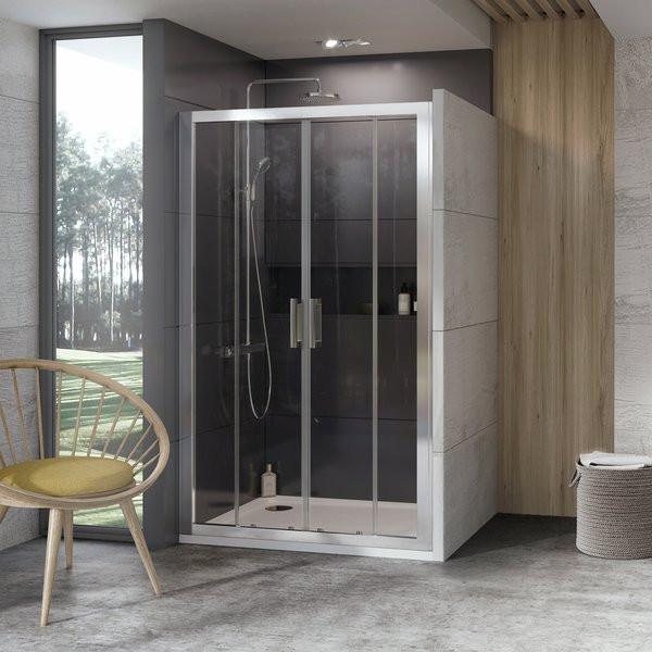 Душевая дверь 140 см Ravak 10° 10DP4 0ZKM0100Z1 белый прозрачное душевая дверь 170 см ravak 10° 10dp4 0zkv0u00z1 сатин прозрачное