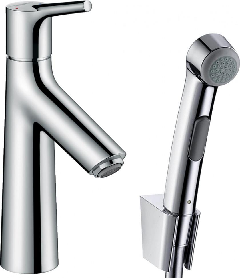 Смеситель для раковины с донным клапаном с гигиеническим душем Hansgrohe Talis S 72290000 смеситель для раковины hansgrohe talis s 72013000