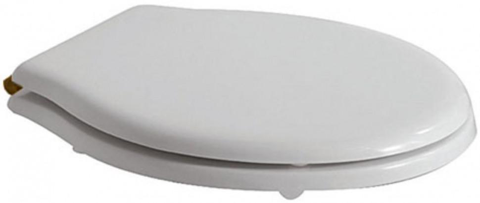 Сиденье для унитаза белый/бронза Globo Paestum PA109bi/br