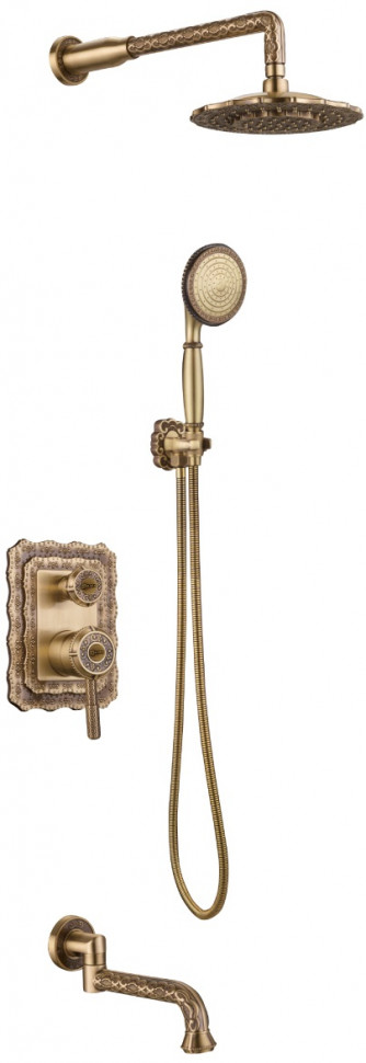 Душевой комплект Lemark Jasmine LM6622B сантехника lemark