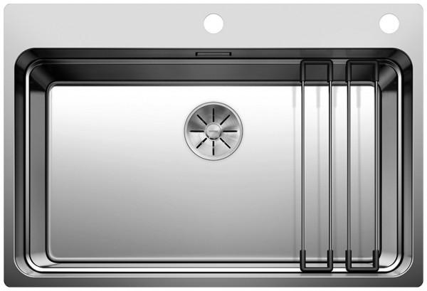 Кухонная мойка Blanco Etagon 700-IF/A InFino зеркальная полированная сталь 524274