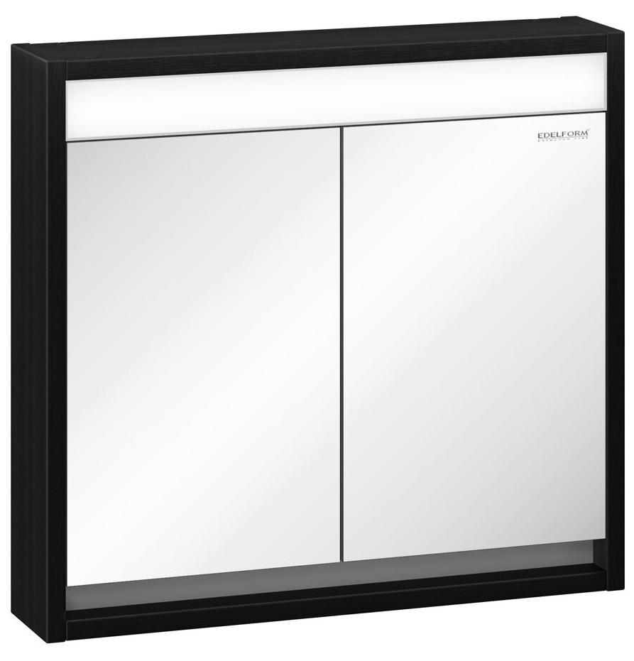 зеркальный шкаф edelform уника 100 белый с дуб гальяно 2 741 45 s Зеркальный шкаф венге 73,4х68 см Edelform Constante 2-709-14-S