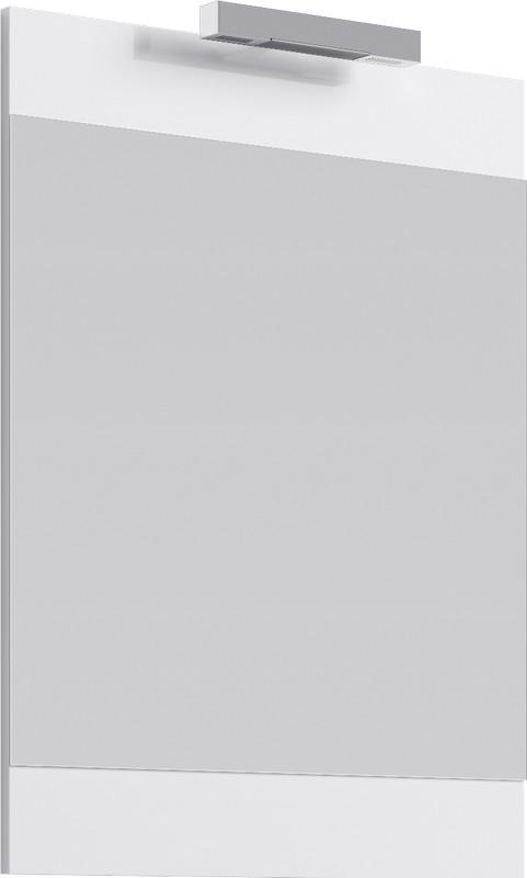 Зеркало 60х80 см со светильником белый глянец Br.02.06/W зеркало ellux laguna 50х70 см со светильником 28 w lag a1 0117