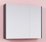 Зеркальный шкаф без подсветки венге магия 81х70 см Aqwella Kommandor Kom.04.08/VM