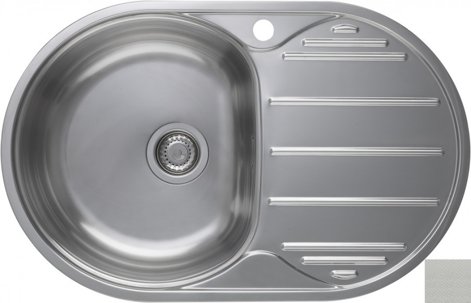 Кухонная мойка декоративная сталь Longran Eclipse ELL780.500 -GT8P 2L цена