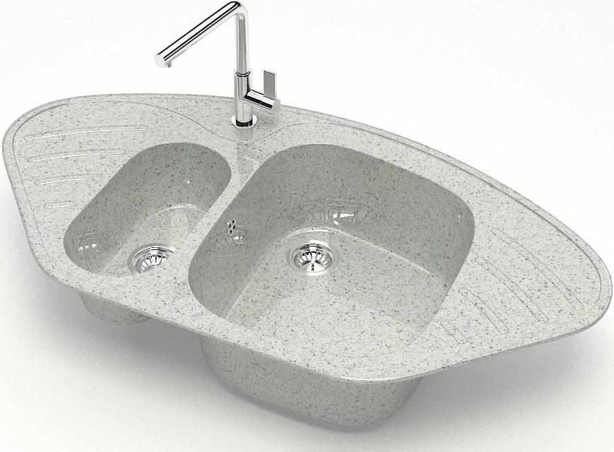 Кухонная мойка Marrbaxx Аделис Z23 светло-серый глянец Z023Q010