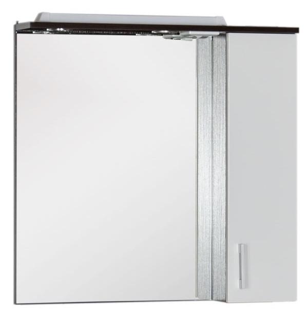Зеркальный шкаф 75х74,6 см венге/белый Aquanet Тиана 00183655 сумка dkny dkny dk001bwgnwu8