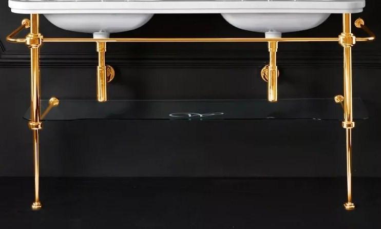 Консоль для раковины золото Kerasan Waldorf 9195K2oro.