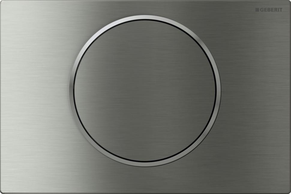Смывная клавиша Geberit Sigma10 матовая/полированная/матовая нержавеющая сталь для одинарного смыва 115.758.SN.5 клавиша geberit sigma 20 двойной смыв 115 882 sn 1 нержавеющая сталь