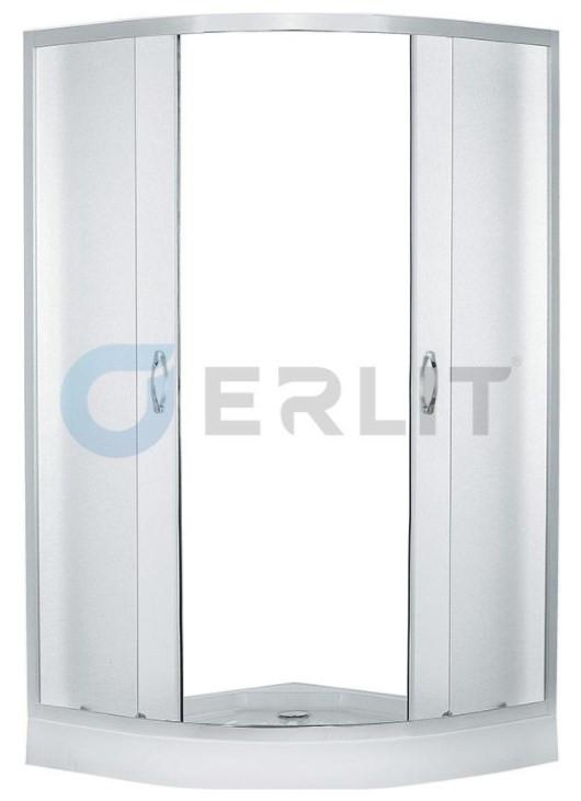 Душевой уголок с поддоном 90х90х195 см Erlit Comfort ER0509-C3 матовое стекло фото