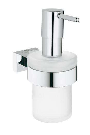 Дозатор жидкого мыла с держателем Grohe Essentials Cube 40756001 антивозрастной крем для лица dr sea против морщин с экстрактом дуналиеллы и минералами мертвого моря spf15 день для всех типов кожи 50 мл