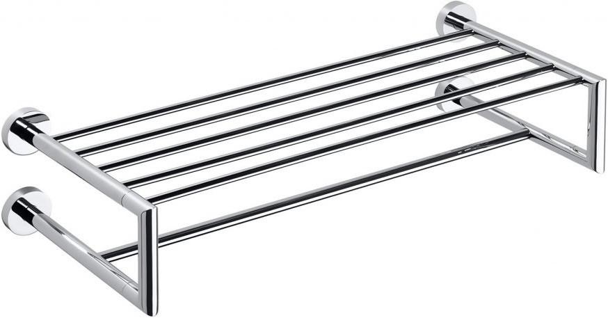 Полка для полотенец двойная 65,5 см Bemeta Omega 104205102 полка bemeta двойная угловая 280x280x380 мм 104202142