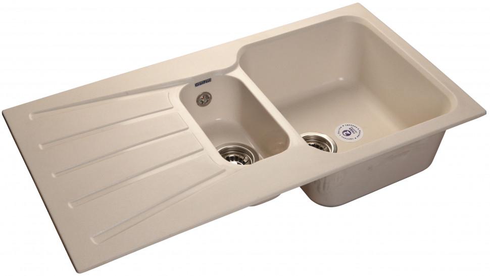 Кухонная мойка белый GranFest Standart GF-S940KL