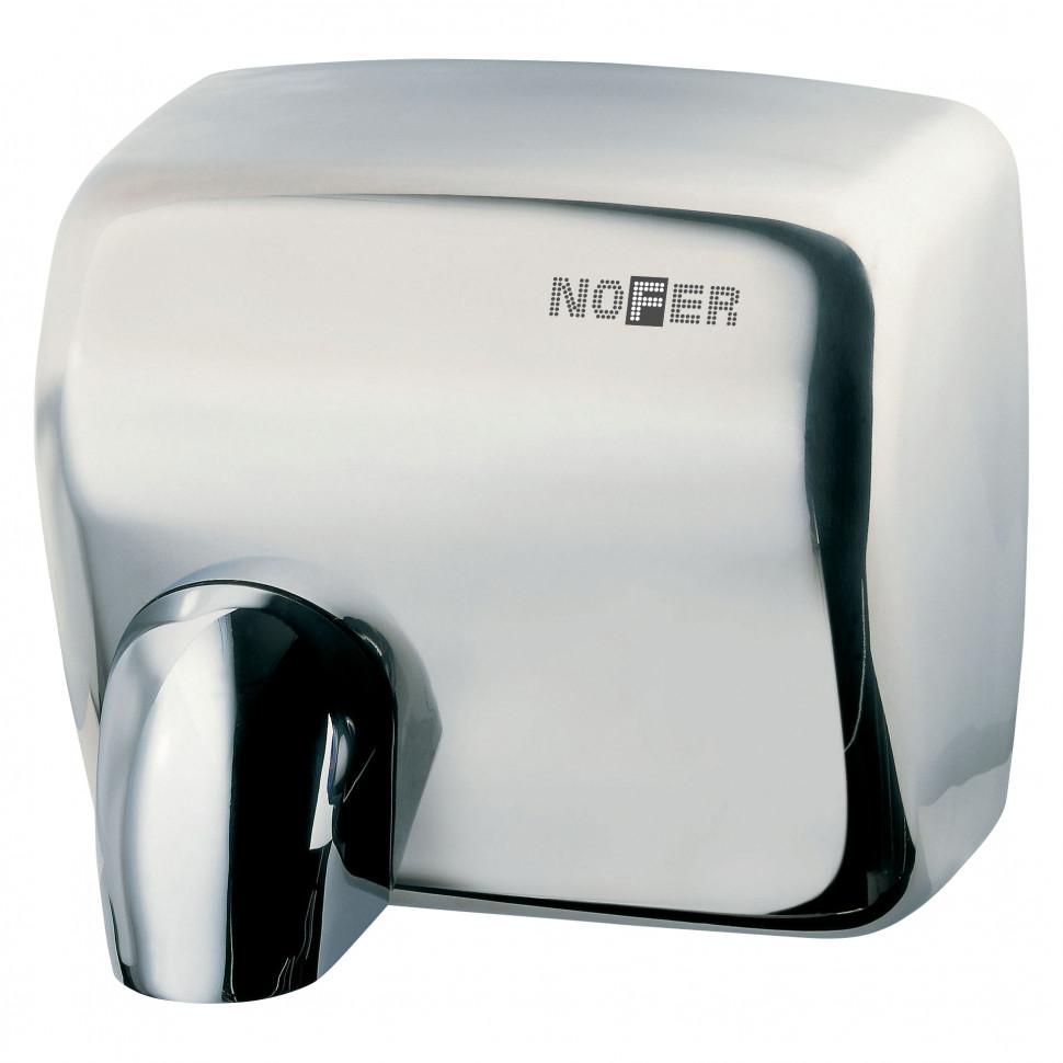 Сушилка для рук хром Nofer Cyclon 01101.B автоматическая сушилка для рук nofer kai 1500 w глянцевая 01251 b