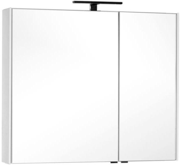 Зеркальный шкаф 99,5х85,1 см белый Aquanet Тулон 00183393 зеркальный шкаф 55х88 1 см белый aquanet стайл 00181511