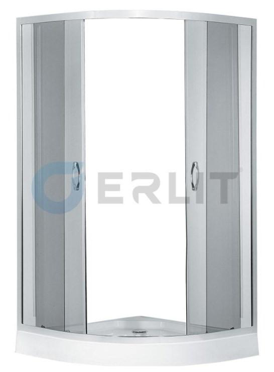 цены Душевой уголок с поддоном 90х90х195 см Erlit Comfort ER0509-C4 тонированное стекло