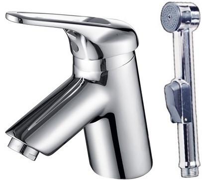 Фото - Смеситель для раковины с гигиеническим душем Kaiser Douglas 12088 смеситель для раковины kaiser sonat 34088 4 с гигиеническим душем белый