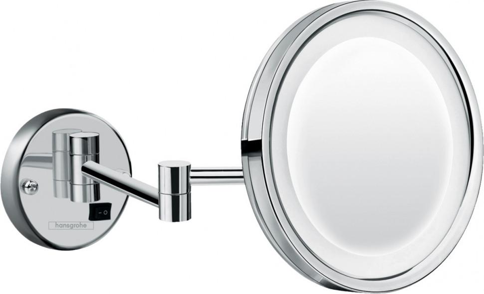 Косметическое зеркало с LED подсветкой Hansgrohe Logis Universal 73560000