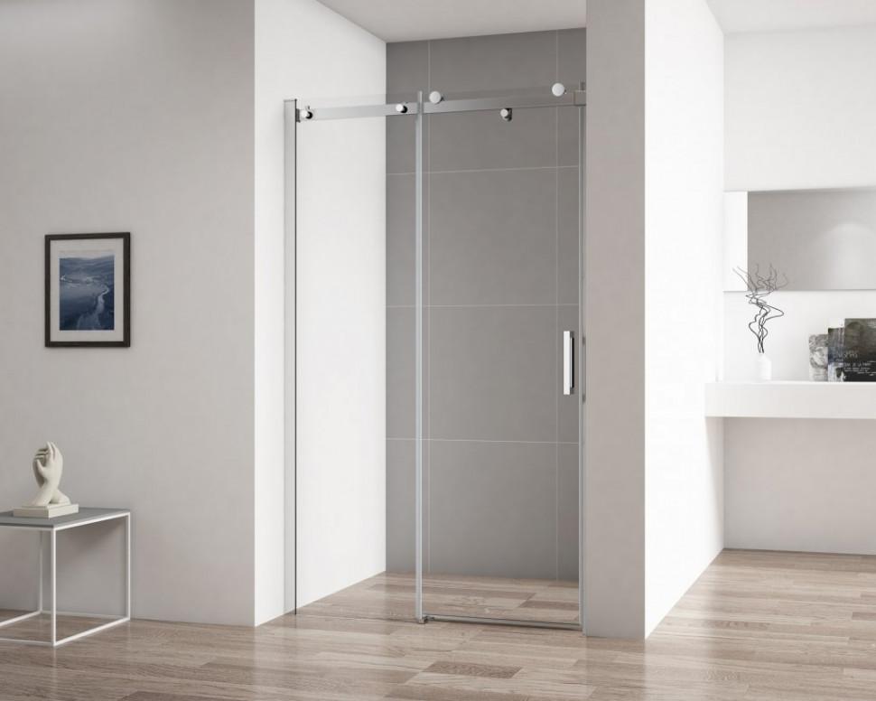 Душевая дверь 110 см Cezares STYLUS-SOFT-BF-1-110-C-Cr прозрачное душевая дверь cezares stylus soft bf 1 120 прозрачная хром stylus soft bf 1 120 c cr