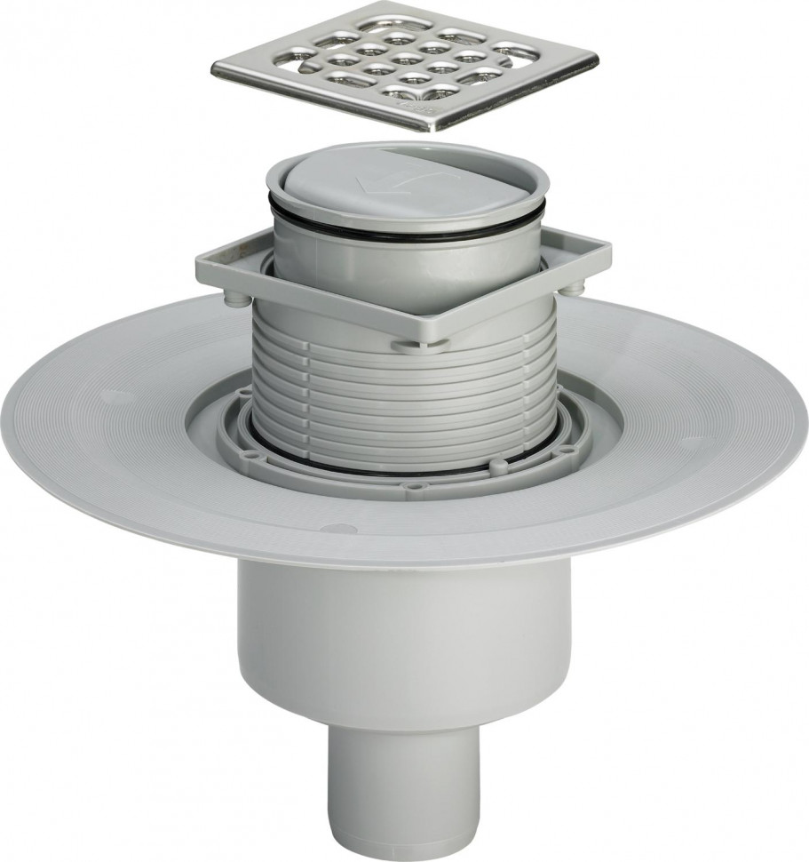 Душевой трап 100x100/50 мм модель 4936.3 Viega Advantix 583224