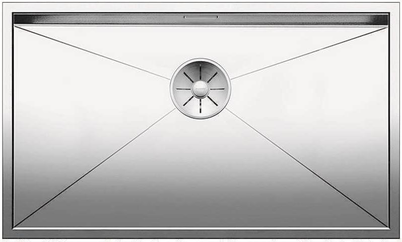 Кухонная мойка Blanco Zerox 700-U InFino зеркальная полированная сталь 521593 кухонная мойка blanco ypsilon 550 u нерж сталь полированная левая