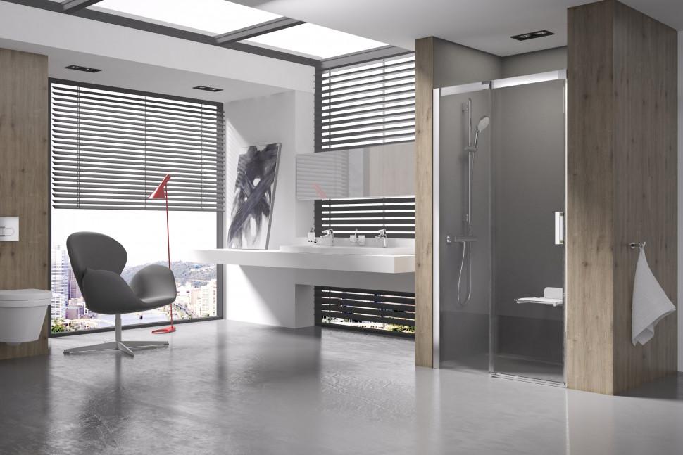 Душевая раздвижная дверь Ravak Matrix MSD2 110 L блестящий Transparent 0WLD0C00Z1