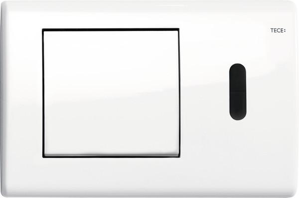 Смывная клавиша бесконтактная, питание от сети 12 В Tece TECEplanus белый глянец 9240362 смывная клавиша бесконтактная питание от батареи 6 в tece teceplanus нержавеющая сталь 9240350