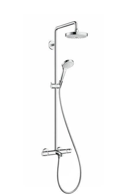 Душевая система Hansgrohe Croma Select S 180 2jet Showerpipe 27351400 душевая система hansgrohe croma select e180 с 2 мя душами 27256400