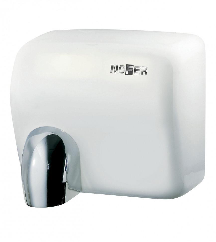 Сушилка для рук белый Nofer Cyclon 01101.W автоматическая сушилка для рук nofer kai 1500 w глянцевая 01251 b