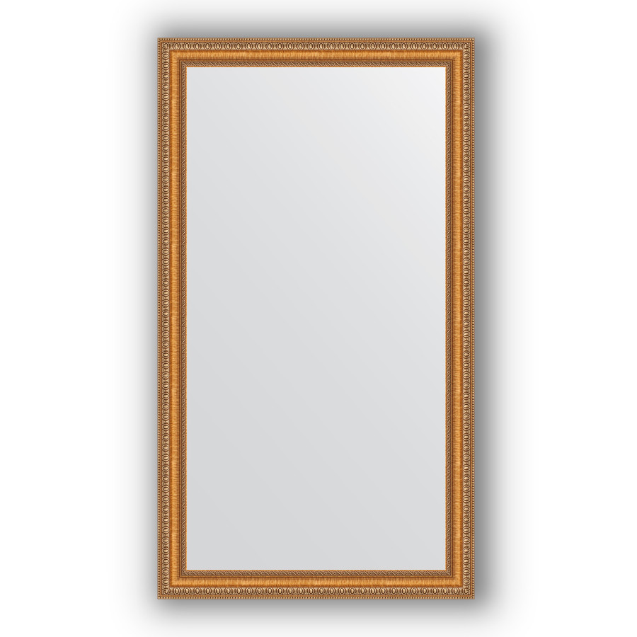 Зеркало 65х115 см золотые бусы на бронзе Evoform Definite BY 3202 зеркало evoform definite 155х75 золотые бусы на бронзе