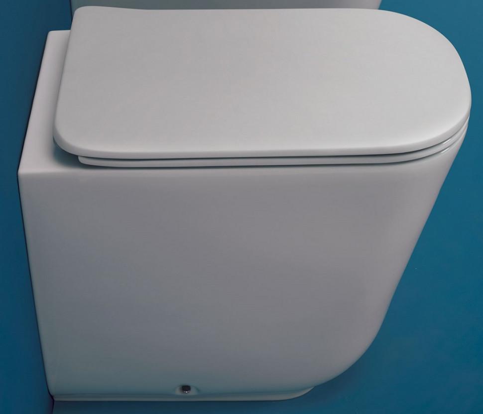Унитаз приставной безободковый Kerasan Tribeca 511801 приставной унитаз kerasan aquatech 371601